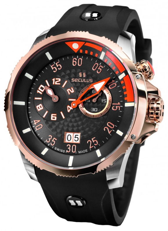 часы 4505.3.422 black-orange, ss-r, black silicon